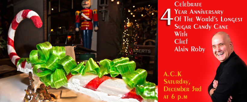 A.C.K. celebrates four years anniversary of world's longest candy cane